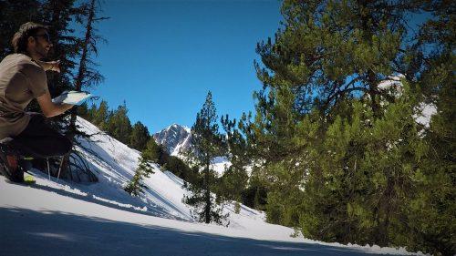 Orientación de montaña con guía