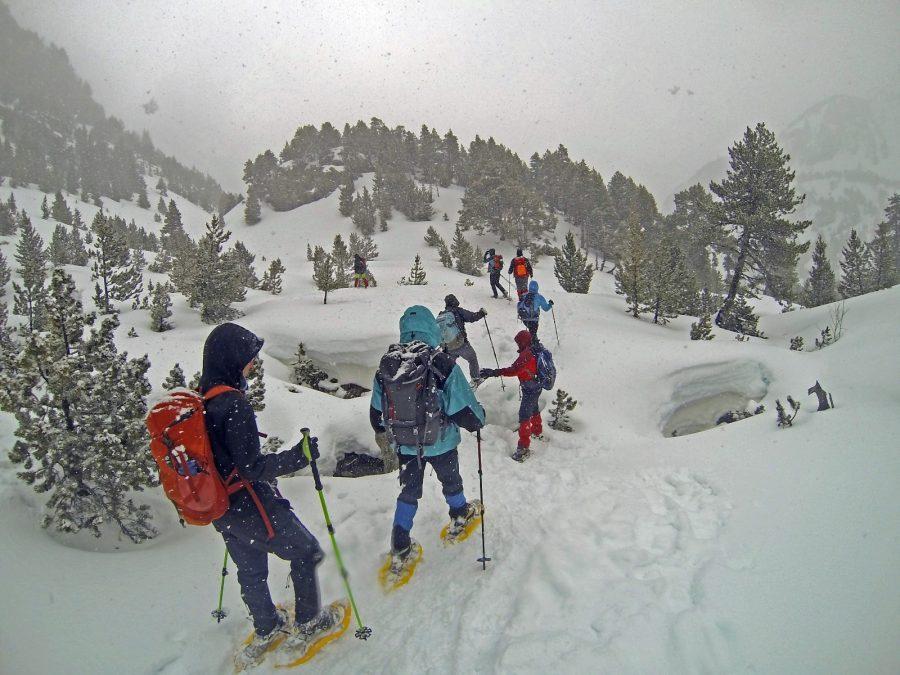 Rutas y travesías con raquetas de nieve