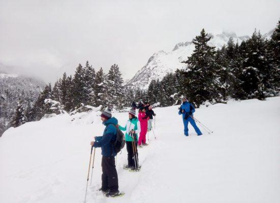 Raquetas de nieve ruta en el Valle de Benasque